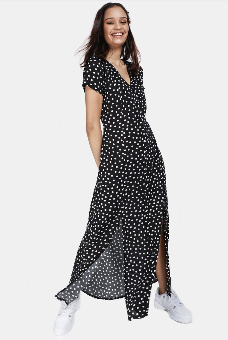 Love this dress, and I really want to get it but they're currently only available in XS and S online - not sure about in store so here's hoping more are on the way.  Polka Dot Maxi Dress from Mr Price  R159