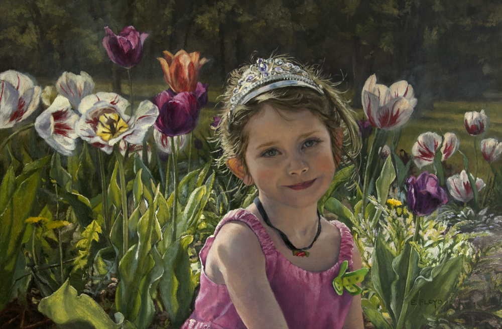 Butterfly Princess by Elizabeth Floyd, 16 x 24 inches, oil on linen