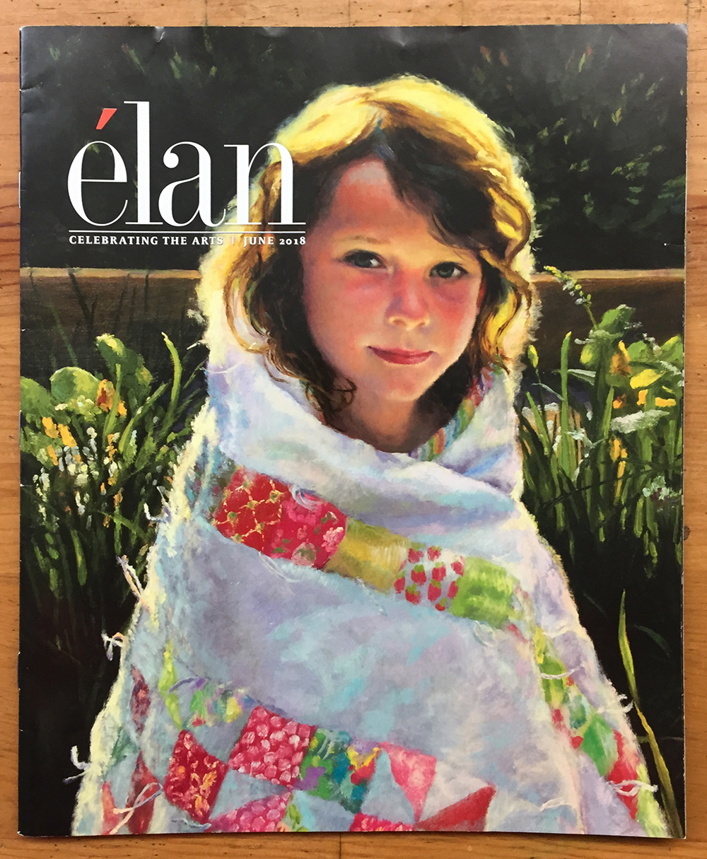 Portrait painting on cover of Elan Magazine.jpg