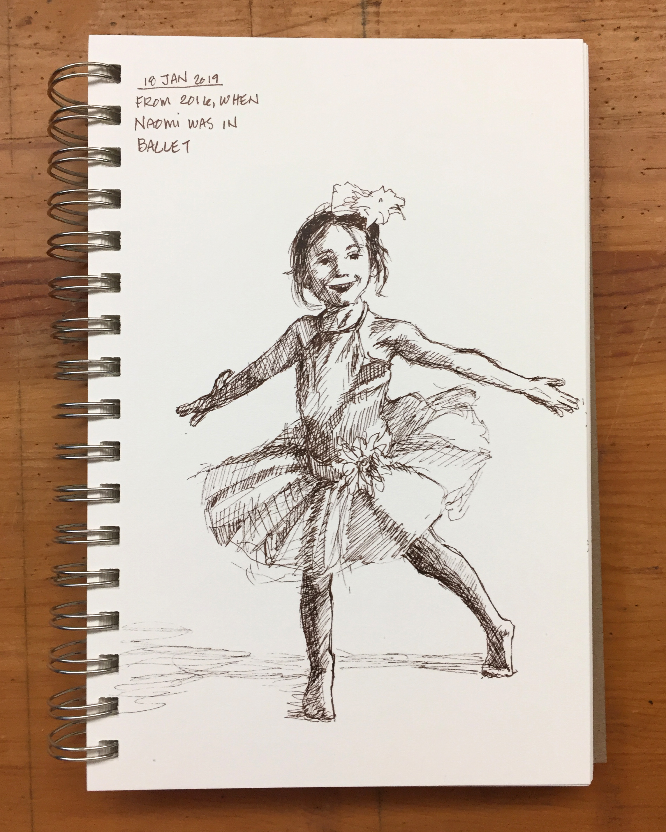 Day 18: Naomi in her ballet recital costume for 2016