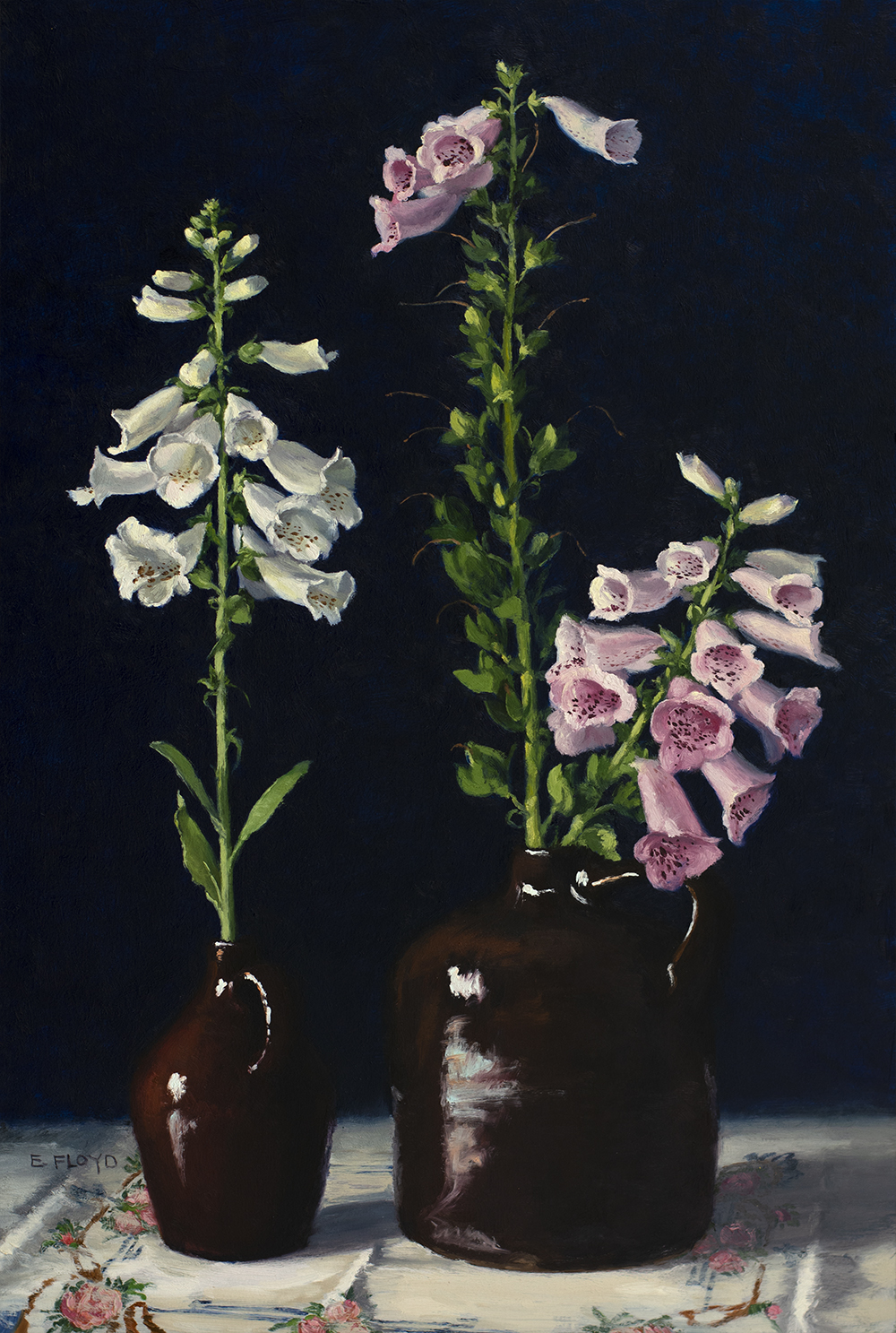 The Charm of Foxgloves, oil on panel, 24 x 16 inches