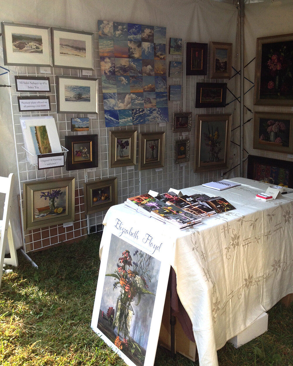My tent when I last participated in the McLean ArtFest!