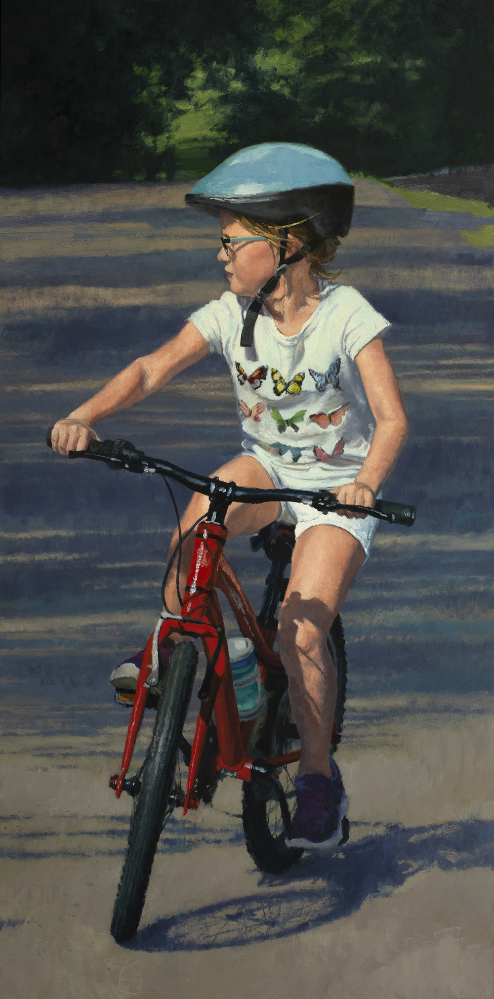 Bike Riding, Panel 3, 36 x 18 inches