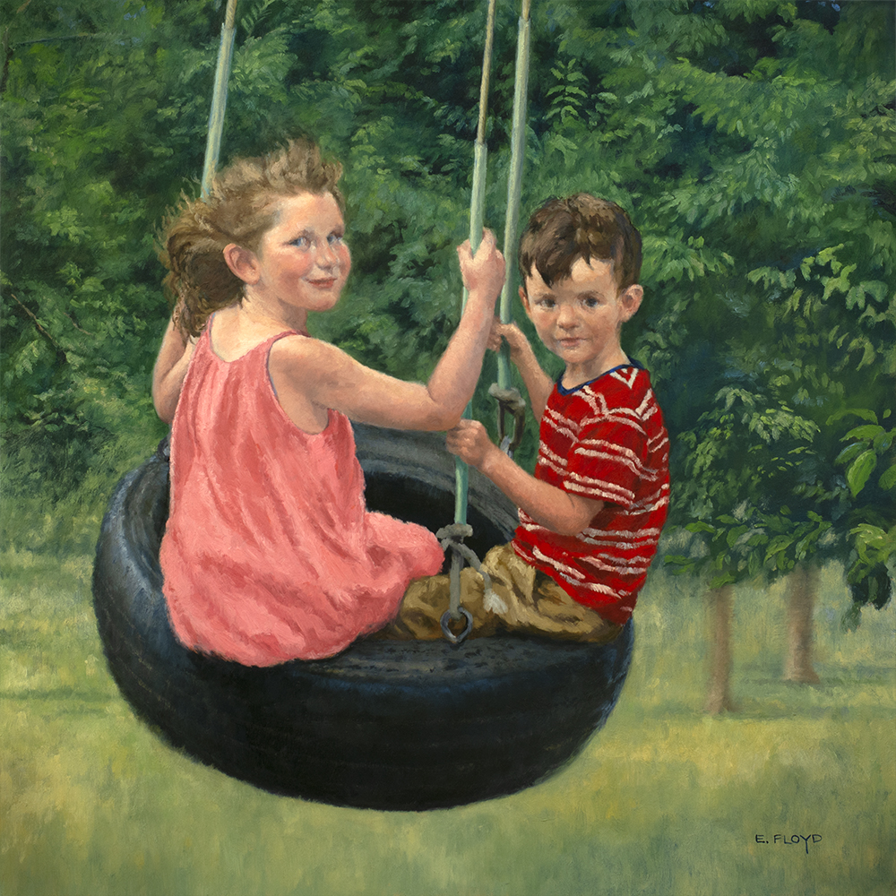 Tree Swing, 24 x 24 inches