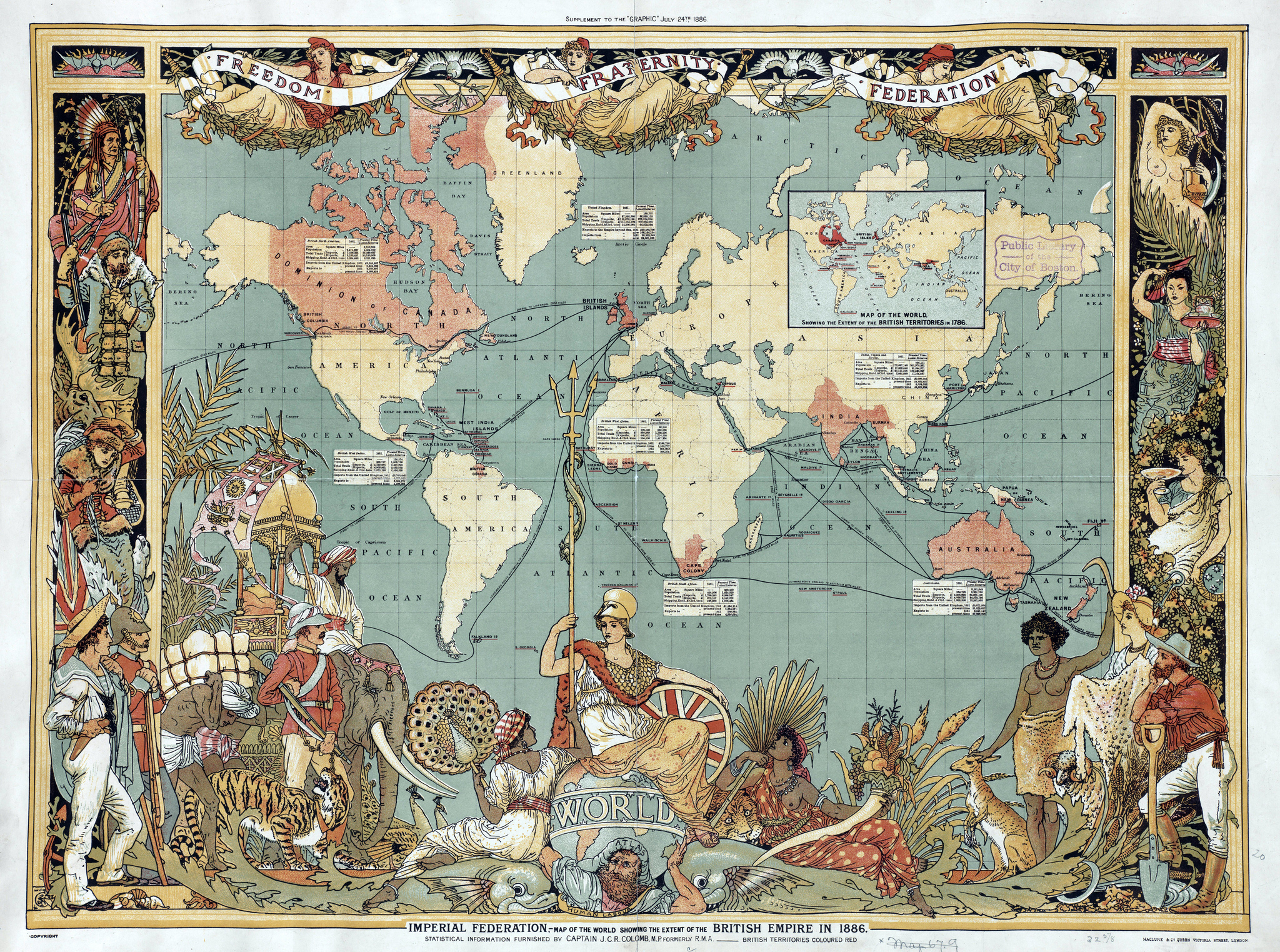 The British Empire in 1886, in the earlier days of its colonial expansion. ©Forgemind Active Media