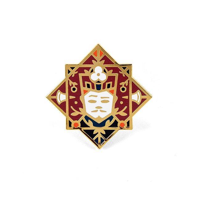 ** NEW PIN ** Jack of Diamonds 5-color hard enamel in shiny gold plating