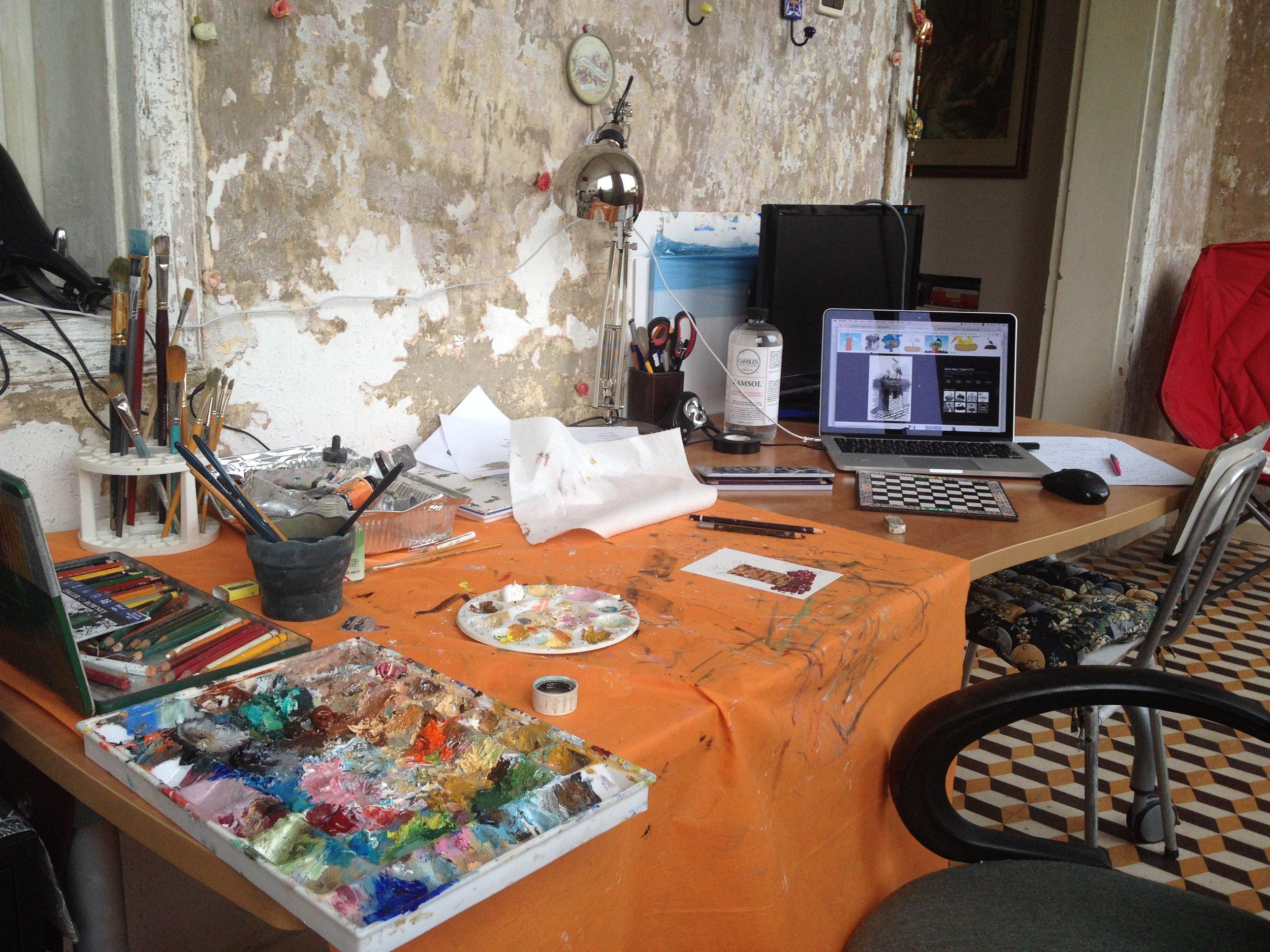My studio in Jaffa