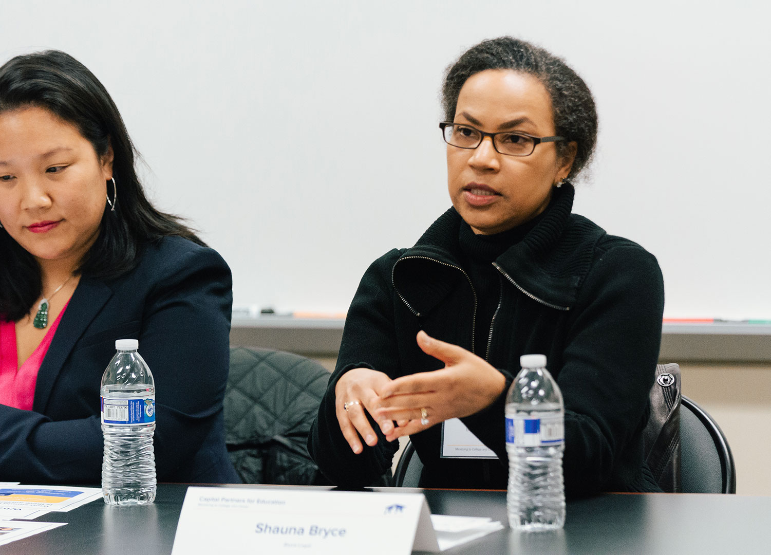 Shauna C. Bryce speaking on a Capital Partners for Education (CPE) Legal Advocacy panel moderated by Deborah Tang of Major, Lindsey & Africa and hosted by George Washington University Law School in Washington, DC.