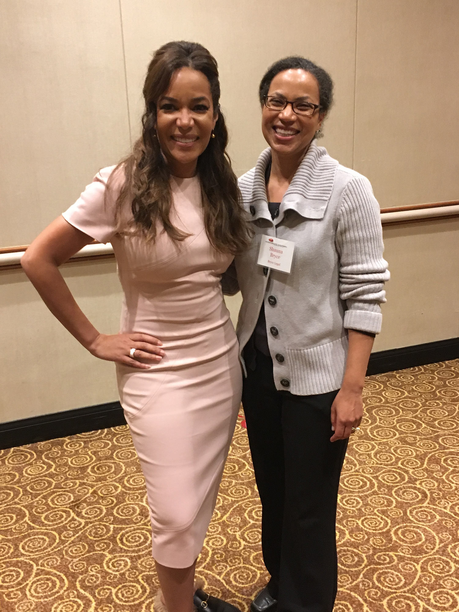 "Shauna C. Bryce with Sunny Hostin—Senior Legal Correspondent and Analyst for ""ABC News,"" co-host of ABC's morning talk show ""The View,"" and former federal prosecutor—at a Manhattan conference on legal careers."