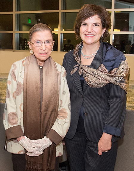 "The Hon. Ruth Bader Ginsburg and Julie Cromer Young at ""Her Honor: Women in the Judiciary,"" for which Julie served as conference director."