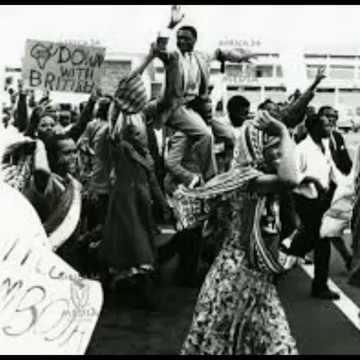 Anticolonial protest in Kenya