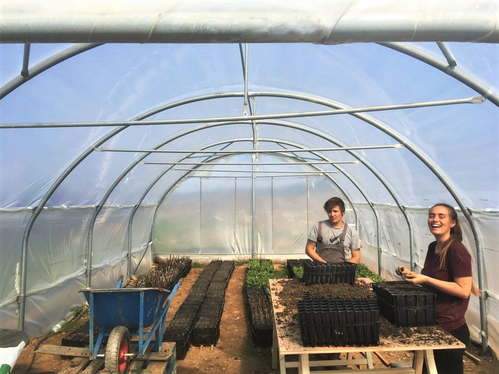 Tash Foote at work in the nursery at Mazi.