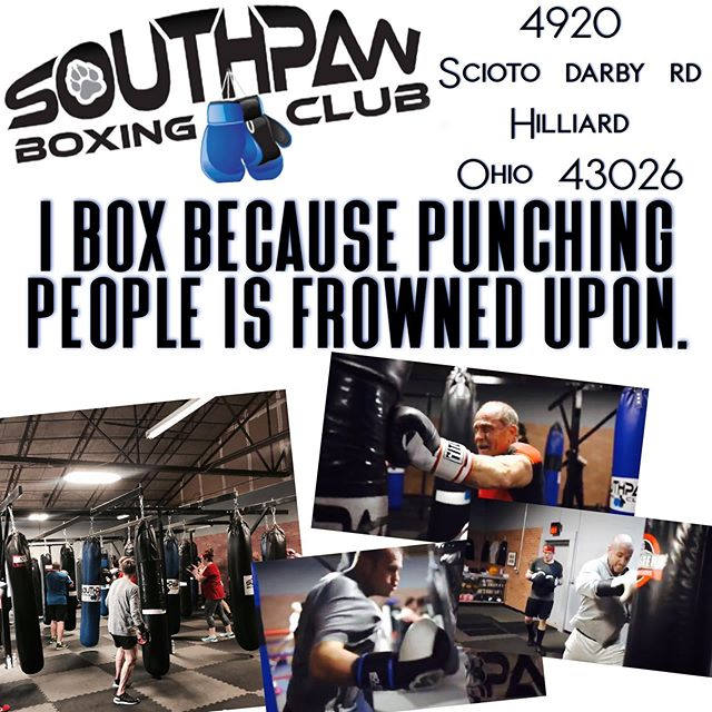 Who else?! 🥊💥🤣 Come get your stress out with Southpaw Boxing Club. Killer workout & stress reliever all in one!  Supportive, no intimidation, for all fitness levels!  Any questions feel free to contact us.  Swing by one of our classes & check us out!