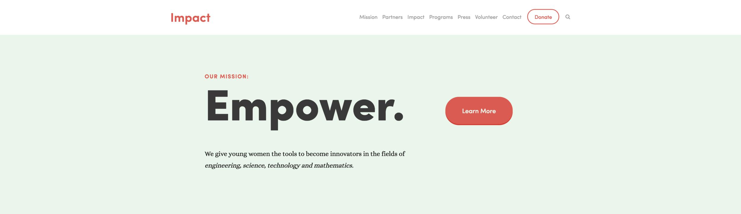Nieuw Squarespace template voor 2018: Impact