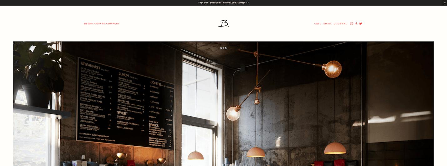 Nieuw Squarespace template voor 2018: Blend