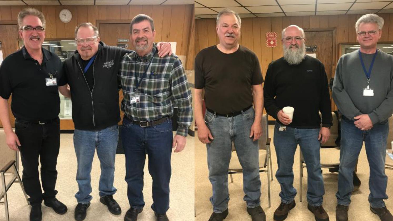 (Above L to R) Reggie Truehl, Jim Salzbrunn, Bryan Wagner, Dave Stoltzman, Dan Duclos and Bruce Powers