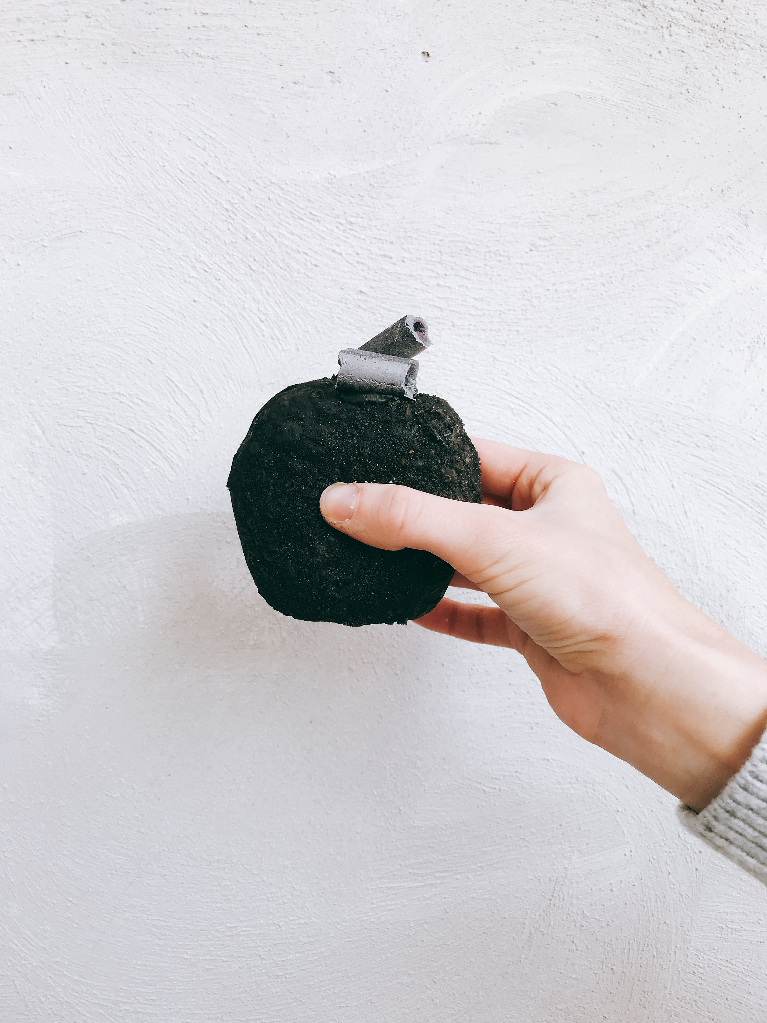 TRIPLE BLACK DONUT - SQUID INK BRIOCHE, BLACK SESAME CREME PATISSIER, CHARCOAL MERINGUE, ROLLED IN ACTIVATED CHARCOAL SUGAR