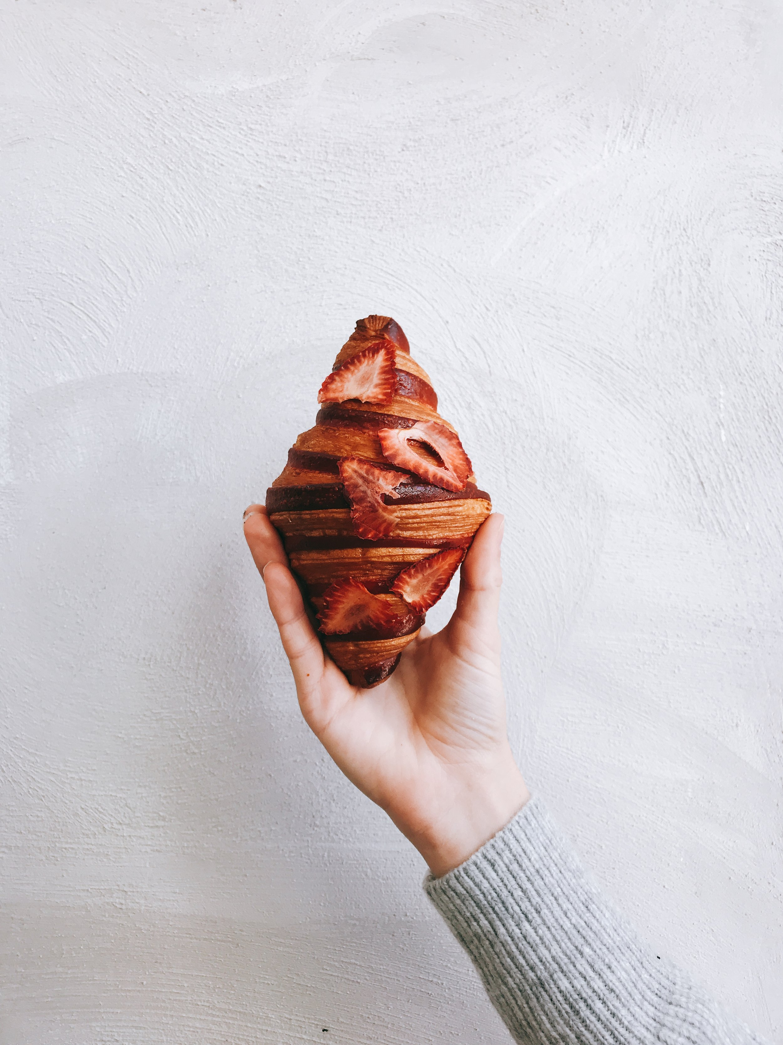 LYCHEE-BERRY JELLY BI-COLOR CROISSANT - THE NAME SAYS IT ALL...LITERALLY.