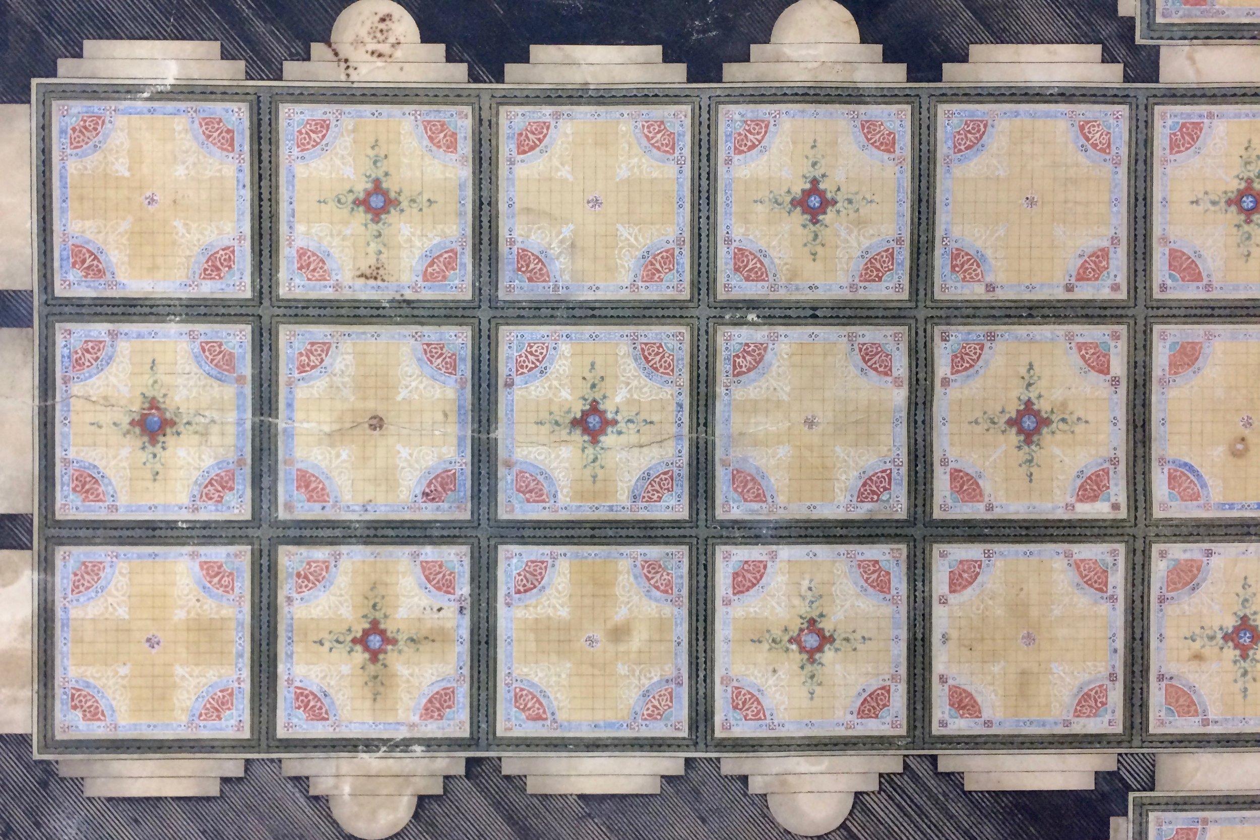 Minton Tile Ceiling Design
