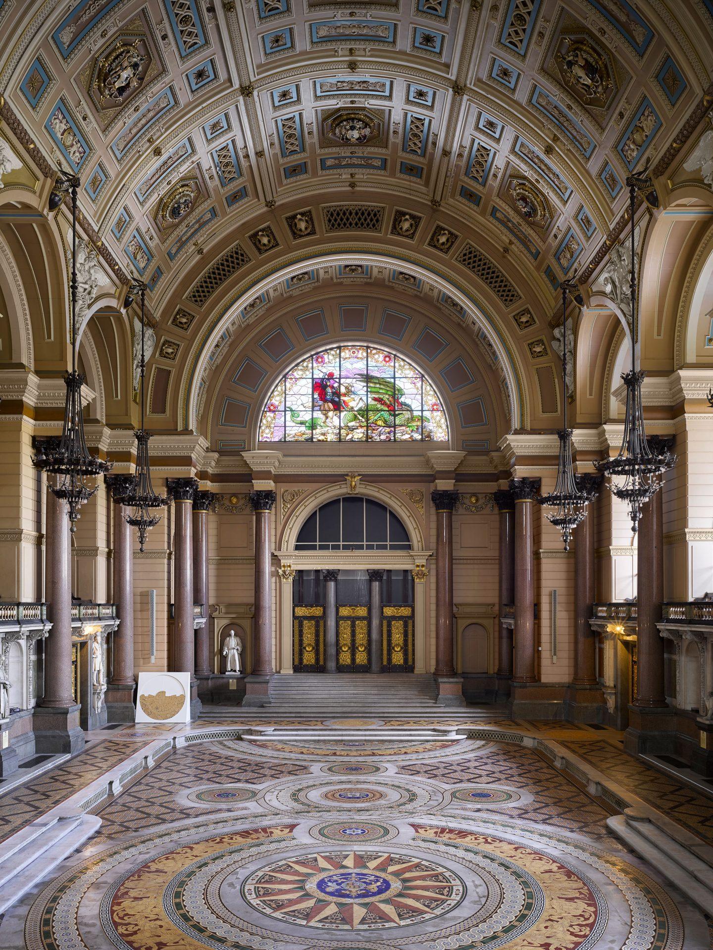 Minton Tile Floor, St Georges Hall, Liverpool