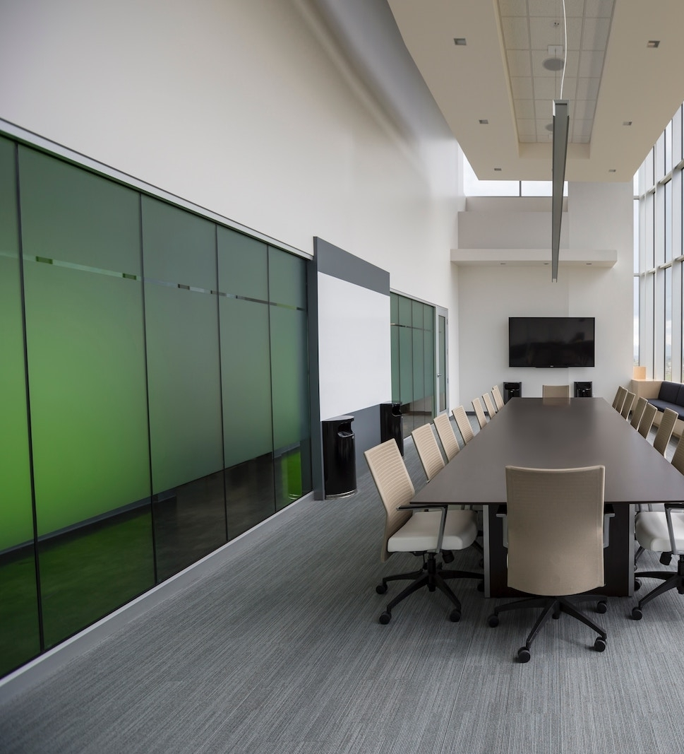 commercial painting of boardroom