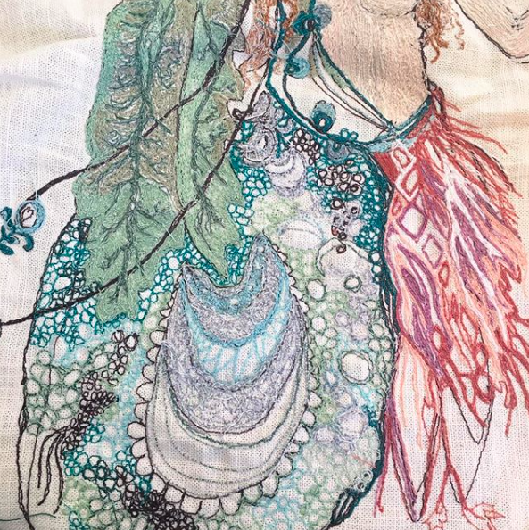 Embroidered Lady Peacock