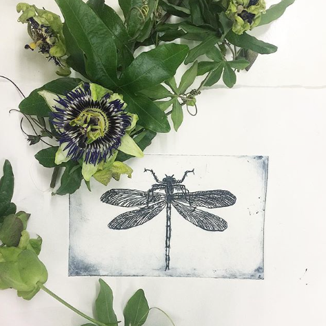 Dragon Fly Etching