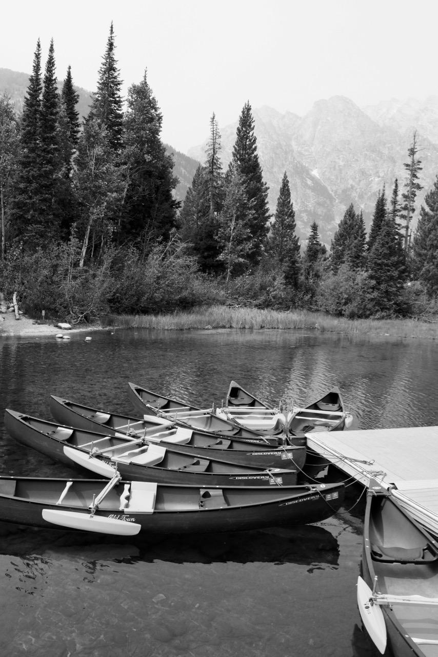 Canoes on the Ready, Lake Jenny - Grand Teton