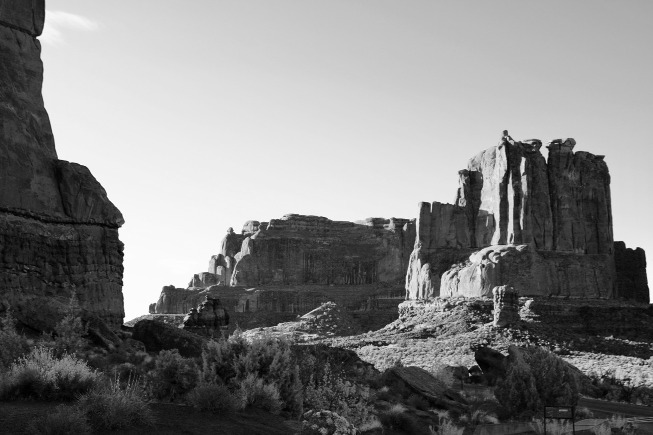 Sun Rise on Courthouse Wash - Arches