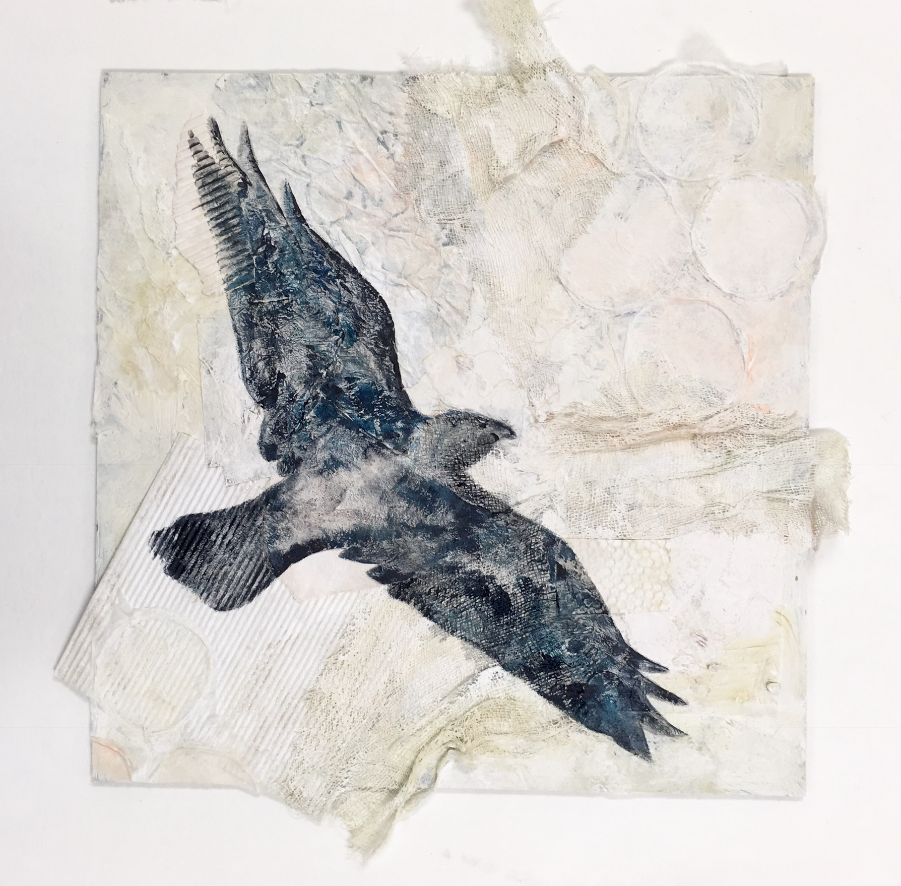 Raven #2, Black Canyon of the Gunnison National Park - mixed media
