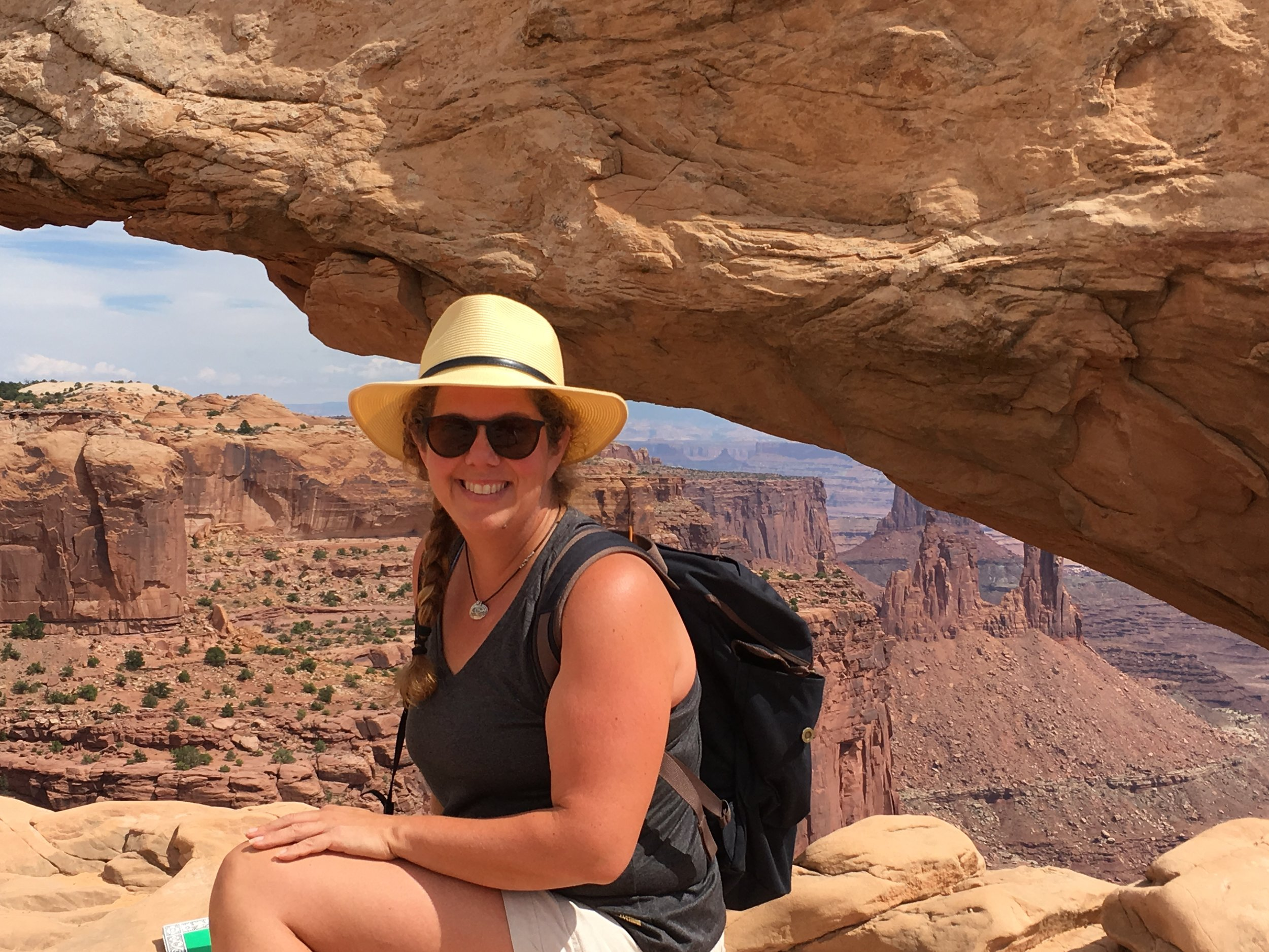 Settling in for some watercolor at Mesa Arch ~ Canyonlands National Park
