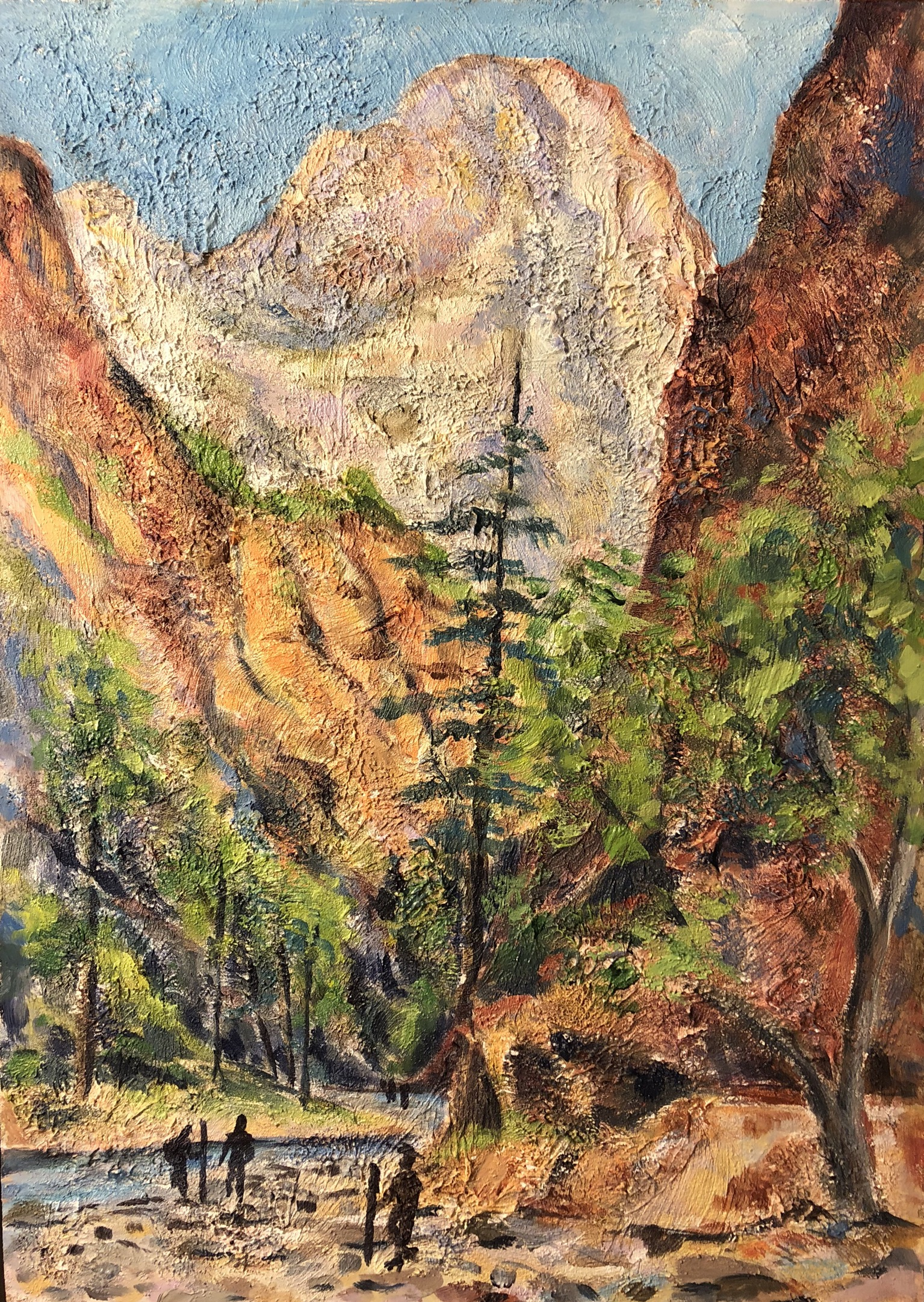 Entry to the Narrows, Zion National Park - acrylic
