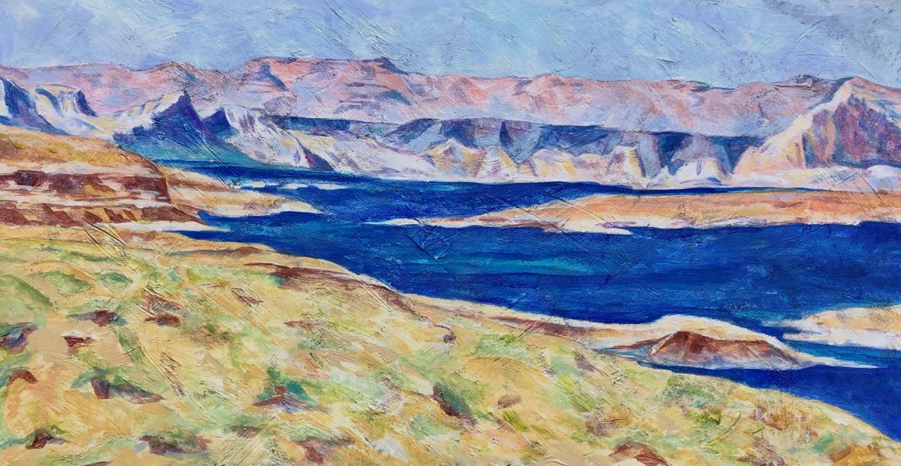 Lake Powell, Glen Canyon National Recreation Area - acrylic on board