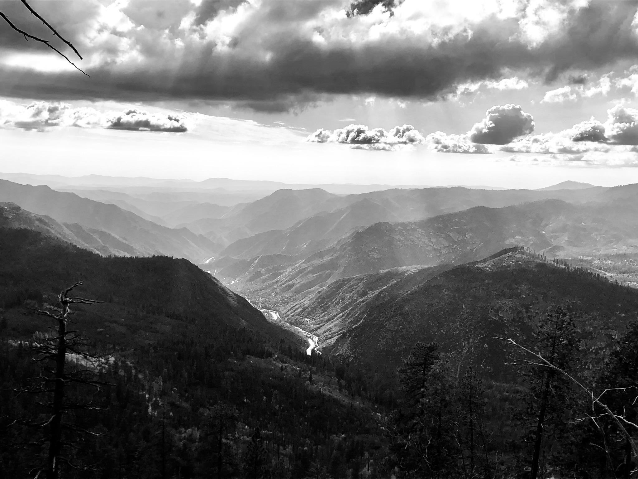 Sierra Nevadas Looking South - Yosemite