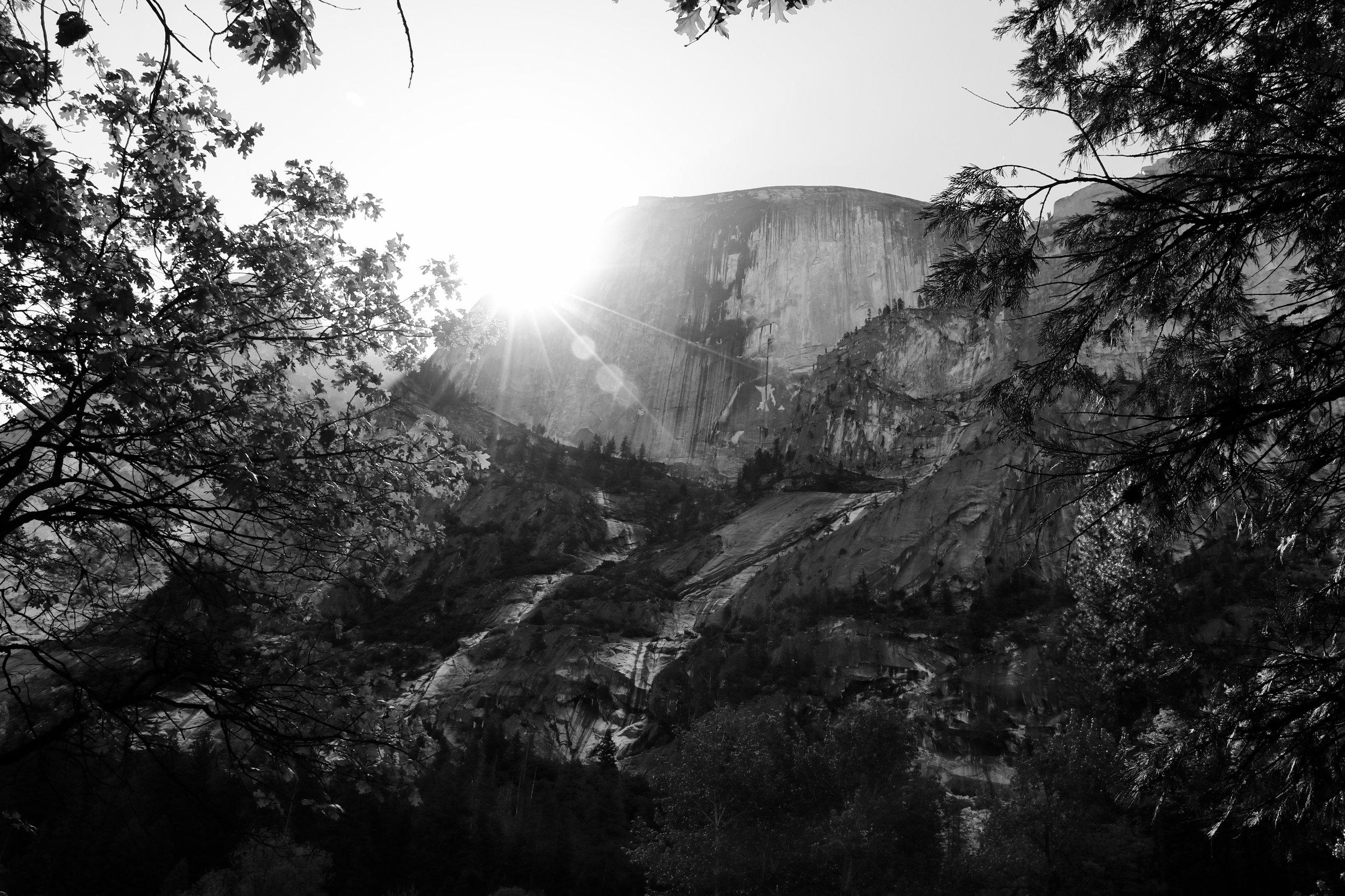 Sunrise Over Half Dome - Yosemite