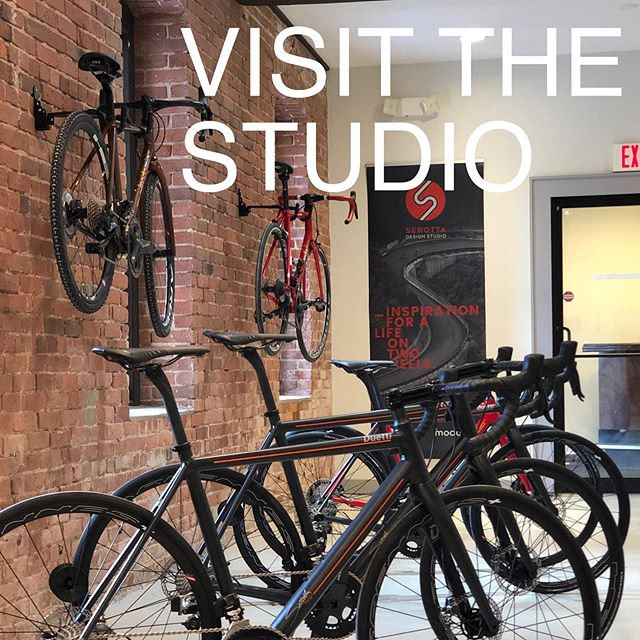 Really excited and proud to show off our new studio. Check out our website story and book a test ride or plan to come by. #serotta #serottabikes  #duetti #amodomio #roadbike #roadbikelife #roadbikes #serottadesignstudio