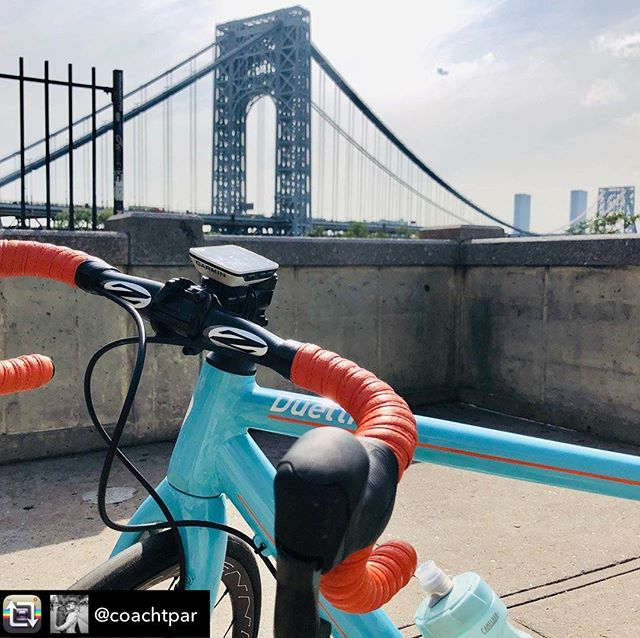 Glad to have you back Tara.  Repost from @coachtpar So thrilled to be home and reunited with my @serottadesignstudio blue baby. Okay, so my Serotta Duetti that has now been with me to France twice rides just as well, but my blue baby is, well, BLUE! And what could be better?! #bikelove #duetti #serottaduetti
