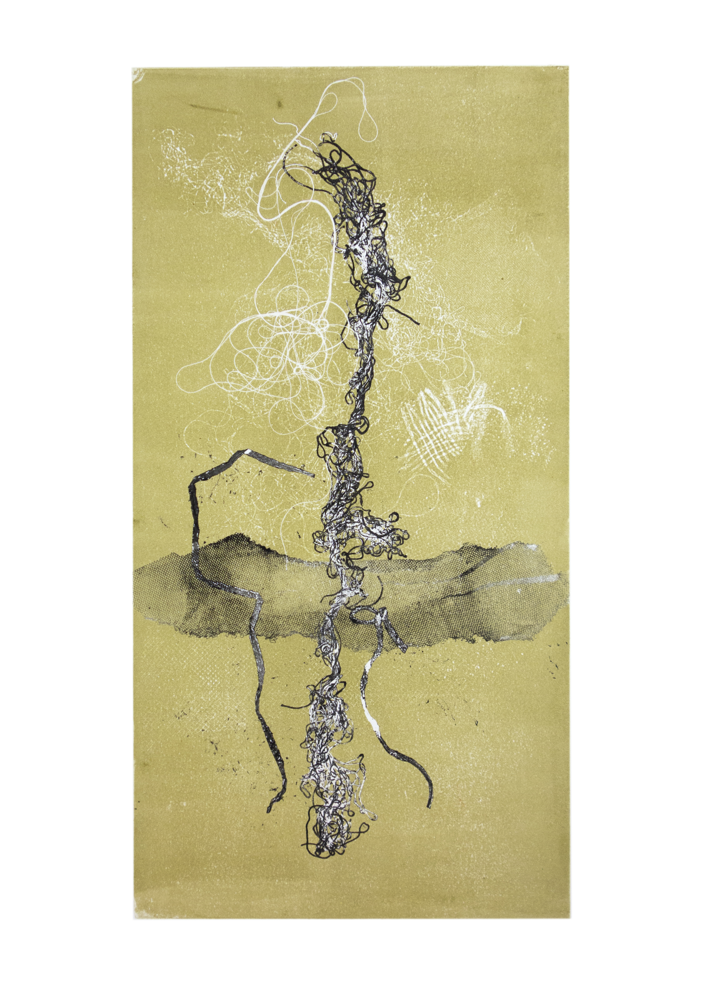 """Scroll 1, collagraph, image: 19"""" x 9-3/4"""""""