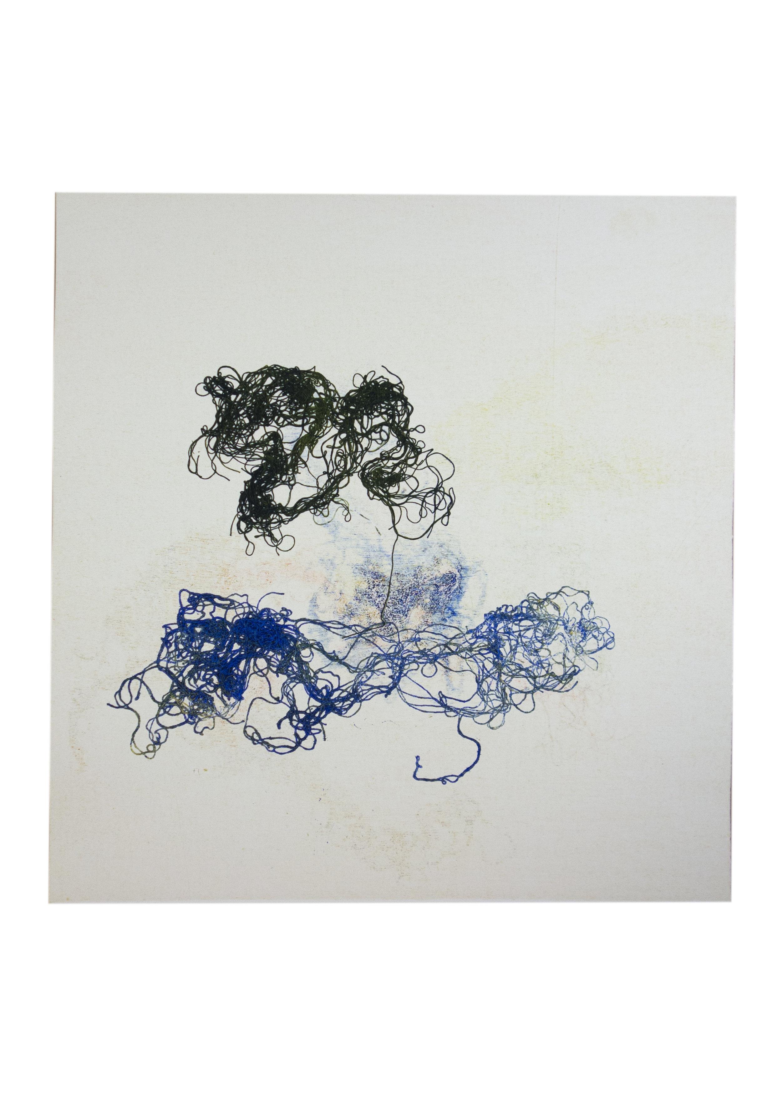 "Cressida, monoprint, image: 16"" x 15"""