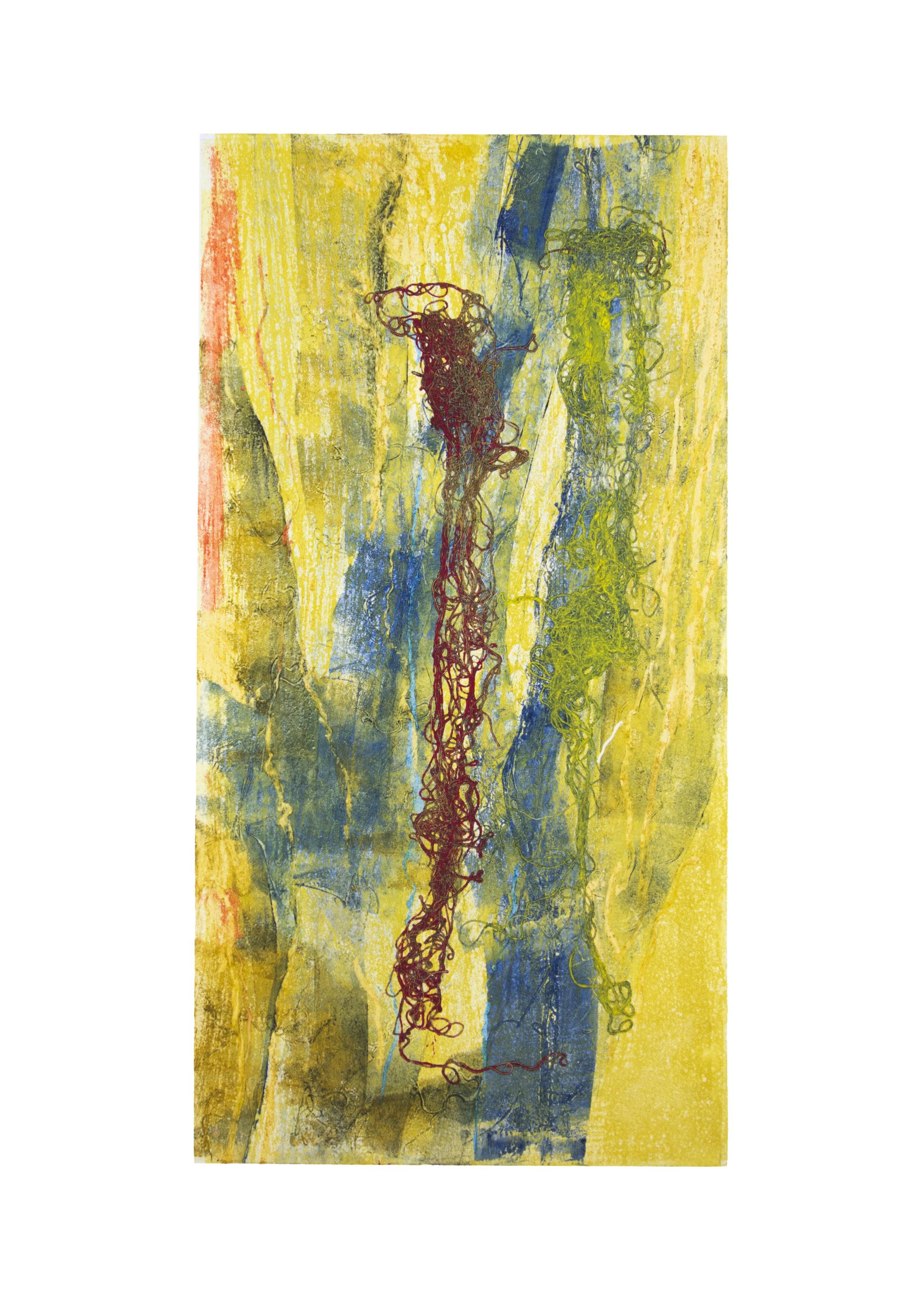 "Red Sea, collagraph, image: 19"" x 9-3/4"""