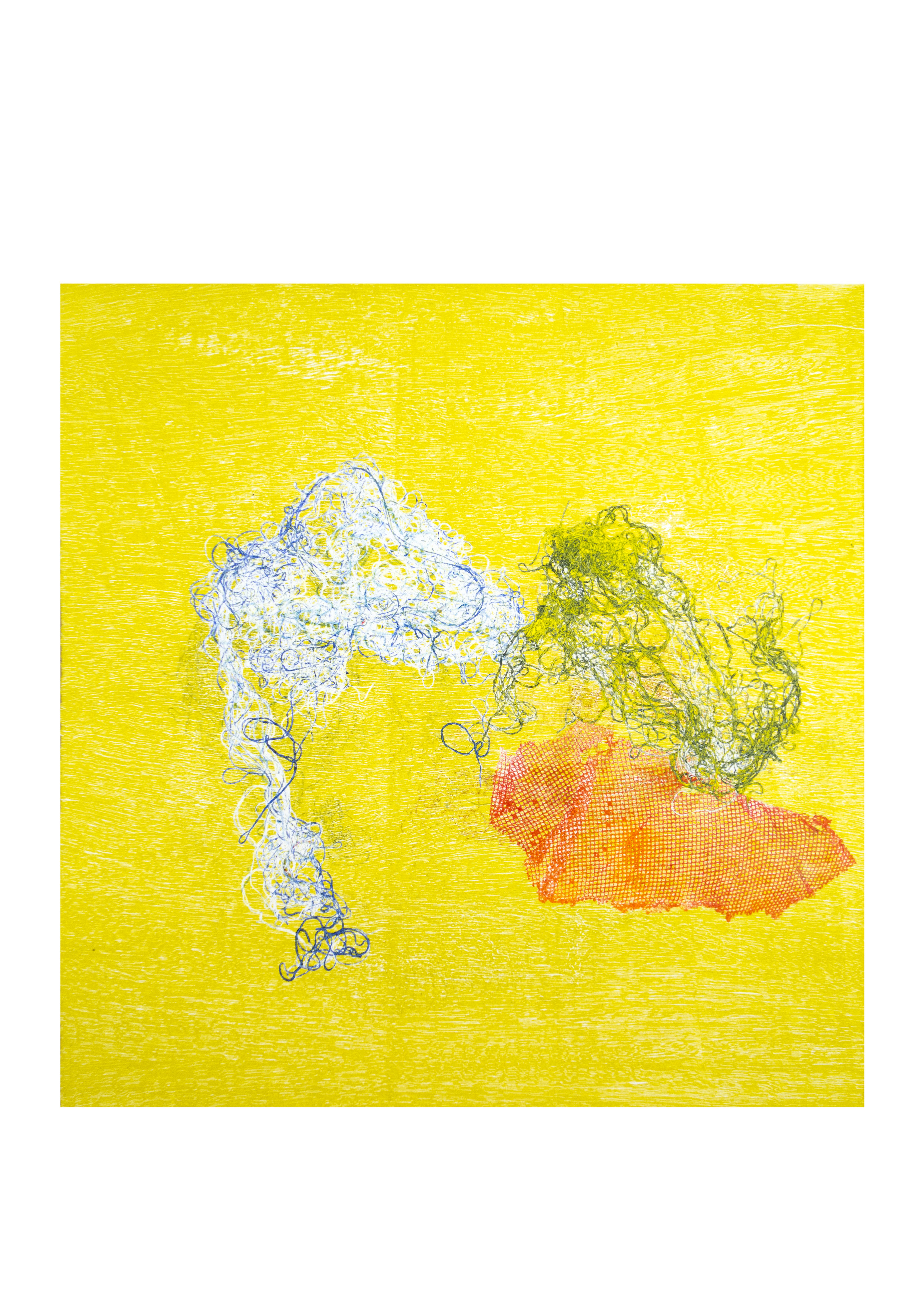 "Solstice 1, monoprint, image: 16"" x 15"""