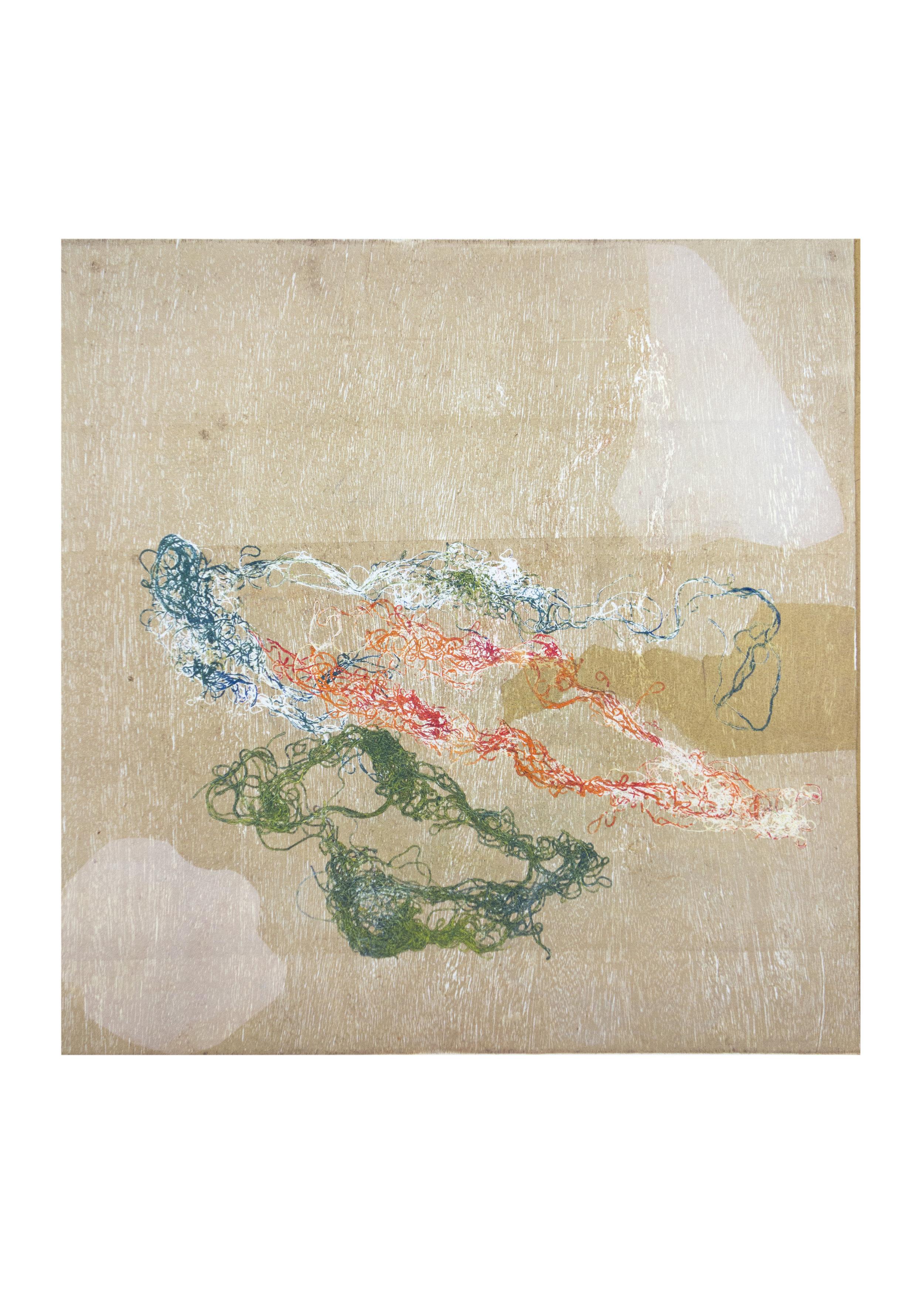 """Mira, monoprint, image: 16"""" x 15"""""""