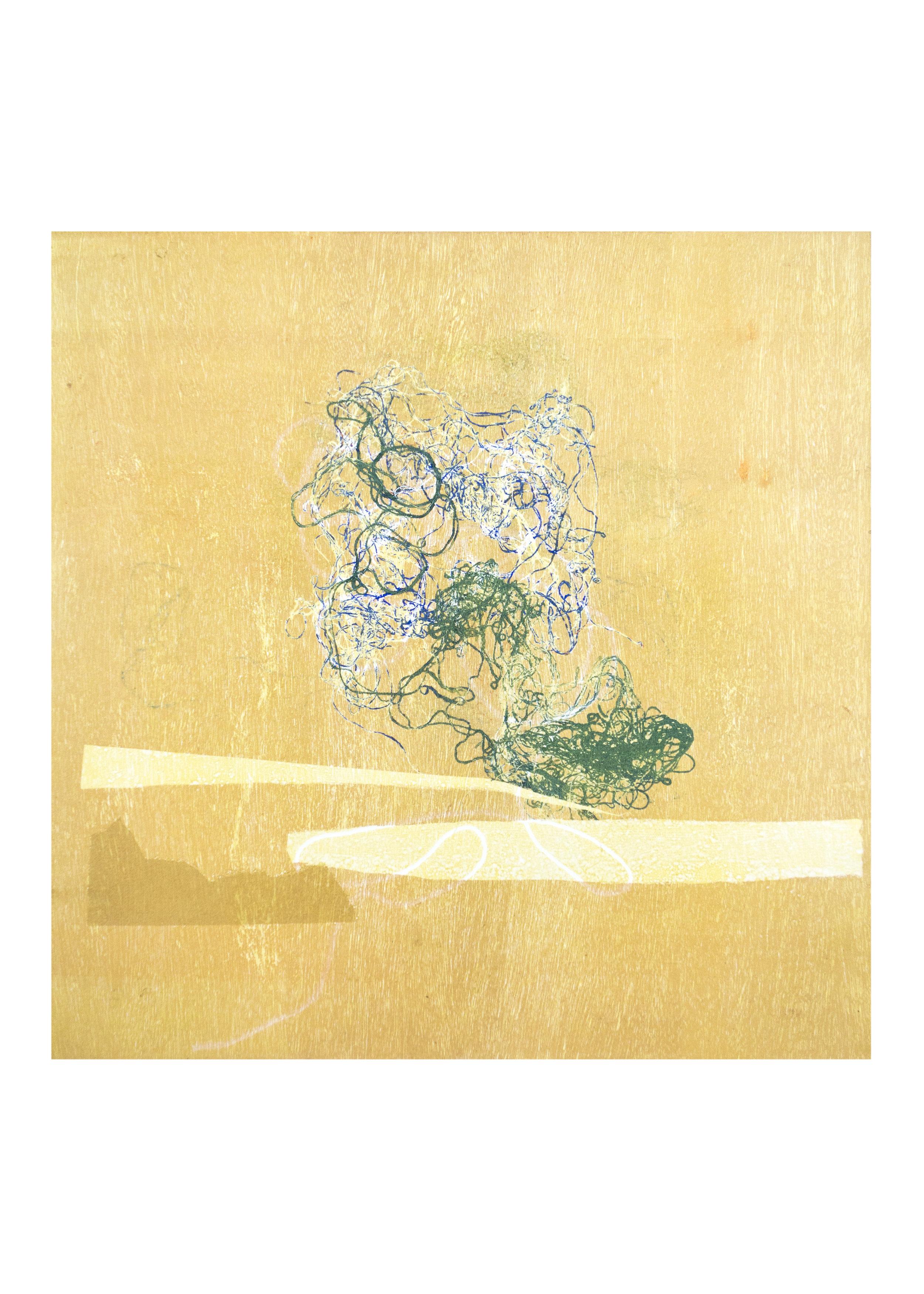 "Vela, monoprint, , image: 16"" x 15"""