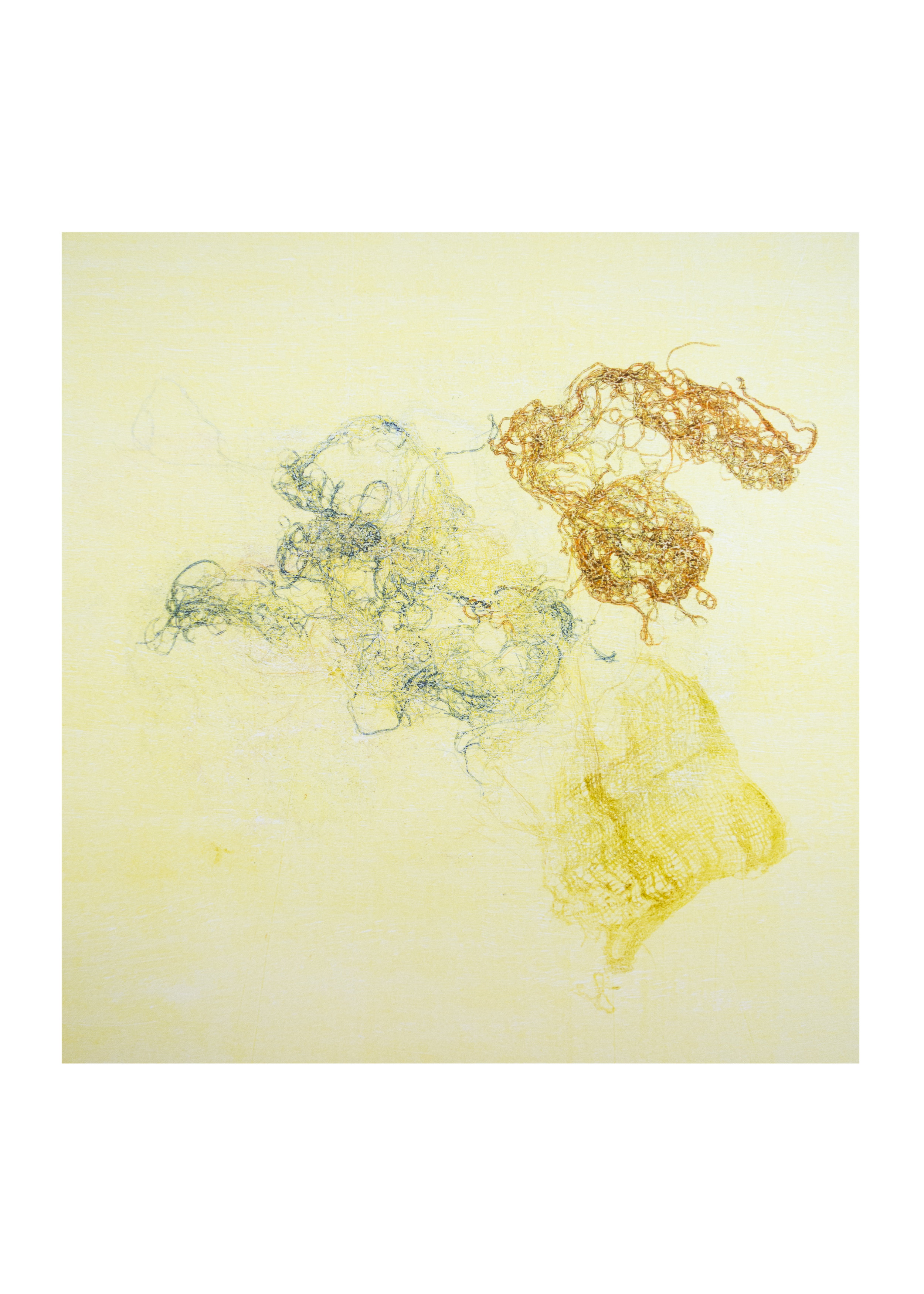 "Ophelia, monoprint, image: 16"" x 15"""