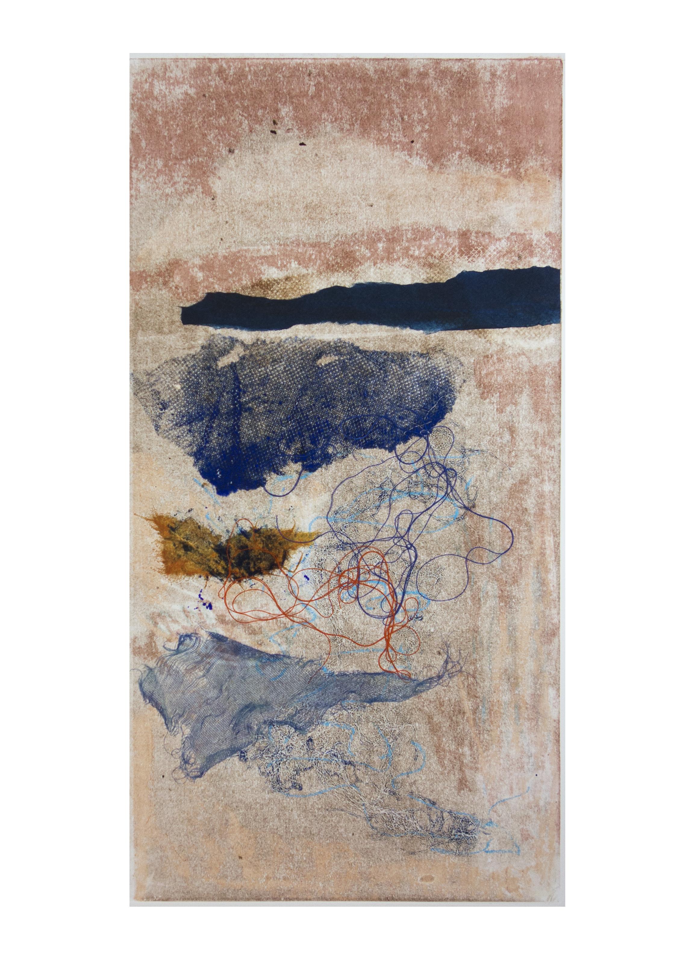 """Dawn, collagraph, image: 19"""" x 9-3/4"""""""