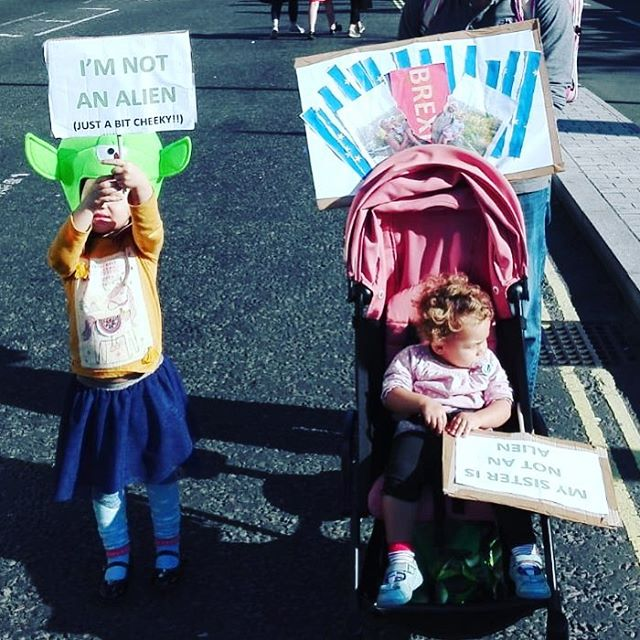 My nieces on the @peoples_vote march (British mother, Italian father)