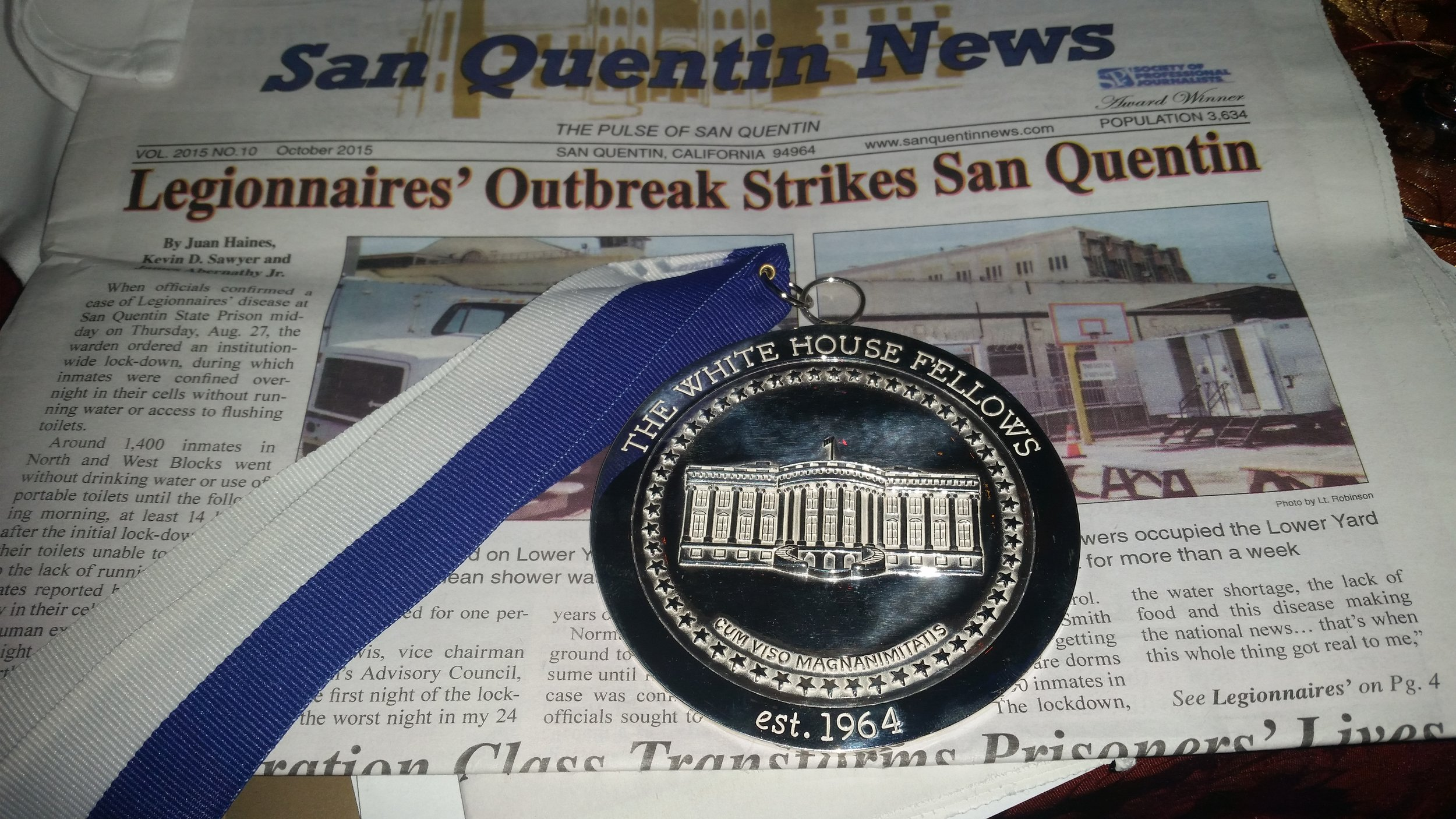"People react to my involvement at San Quentin in so many different ways. I recently told somebody about my work at San Quentin News, and I got a most condescending response. ""They have a newspaper?"" she asked. ""How cute."" As you can see here, the newspaper is quite serious. The staff are all members of The Society for Professional Journalists."