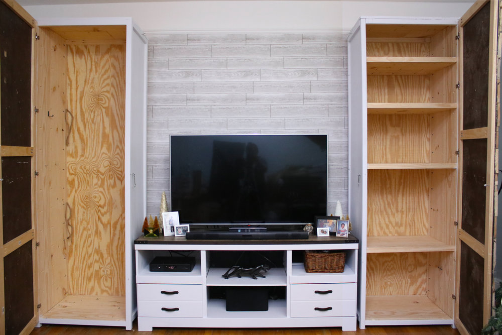 How To Build A Storage Cabinet In 9, Diy Living Room Storage Cabinets