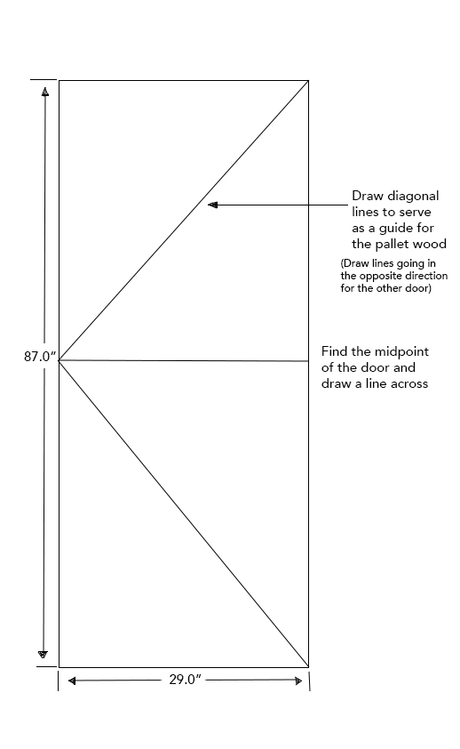 Image 1: Outline for Door (left). The opposite door (right) should mirror the above image.