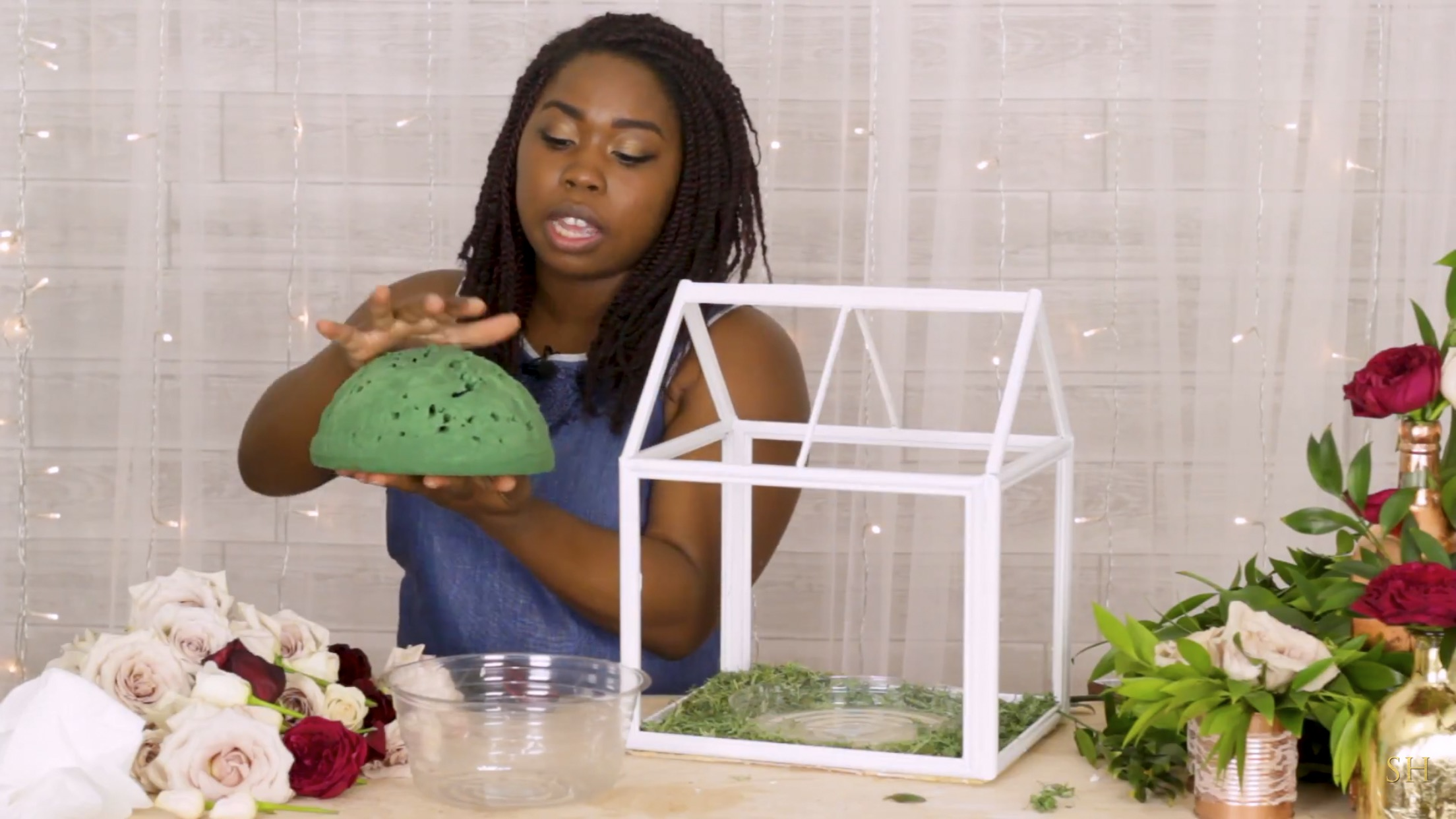 DIY Lantern Centerpiece with Fresh Flowers